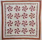 Whirlwind Quilt: Circa 1830's