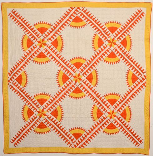 New York Beauty Quilt: Circa 1930; Pennsylvania