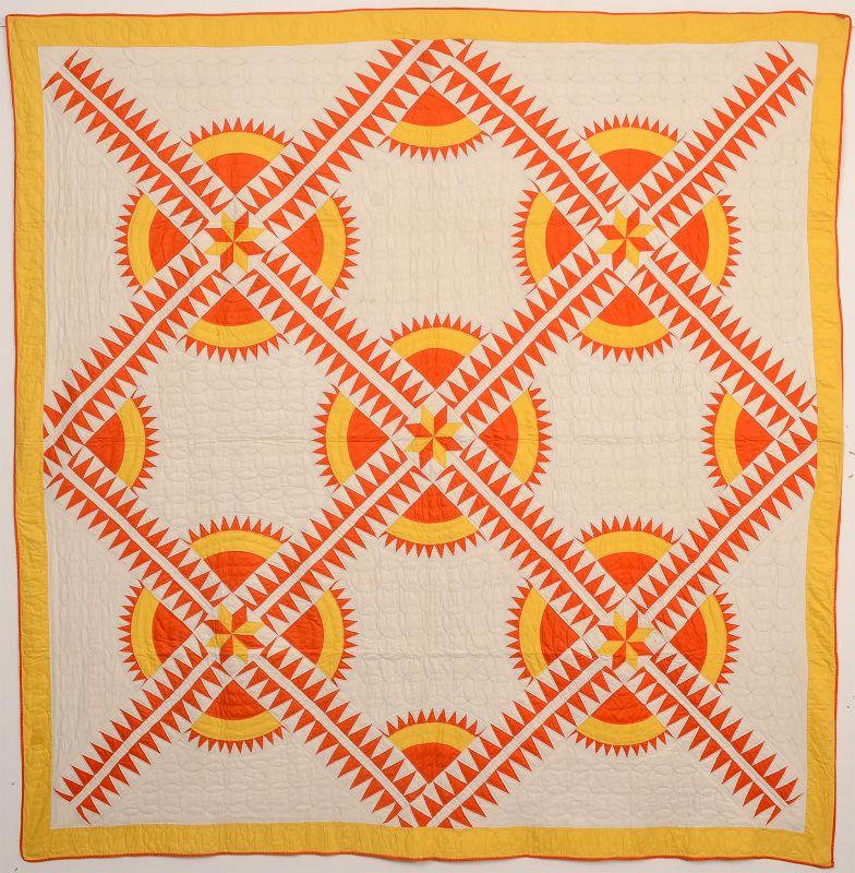 New York Beauty Quilt: Circa 1930; Pennsylvania