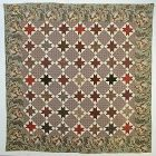 Evening Stars Quilt: Circa 1850; Pennsylvania