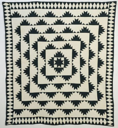 Delectable Mountains Quilt: Circa 1890