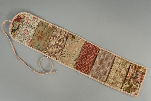 Early Sewing Huswif Roll-up Case
