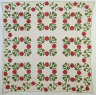 Rose Wreath Quilt: Circa 1860; West Virginia