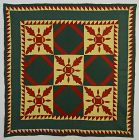 Mennonite Oakleaf Variation Quilt: Circa 1880;Pennsylvania