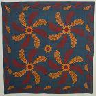 Mennonite Princess Feather Quilt: Circa 1880; Pennsylvania