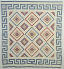 Eye of God Quilt with Greek Key Border: Circa 1920; Pa.