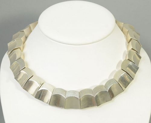 Antonio Pineda Thumbprint Sterling Silver Necklace