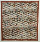 Thousand Pyramids Charm Quilt: Wycoff-Bennett Homestead; NY:Ca. 1870's