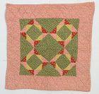 Windblown Square Doll Quilt: Ca. 1880; Pennsylvania