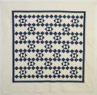Indigo and White Geometric Pattern Quilt: Circa 1880; Pennsylvania