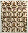 LeMoyne Stars Quilt: Circa 1870; New York