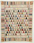 Tumblers Crib Quilt: Circa 1880's; Massachusetts
