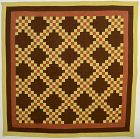 Irish Chain Quilt: Circa 1880; Pennsylvania