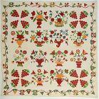 Stuffed Applique Album Quilt: Circa 1870; Pennsylvania