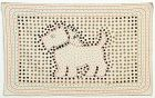 Scottie Dog Button and Embroidered Picture: Circa 1930