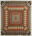 Center Medallion Log Cabin Quilt: Circa 1870