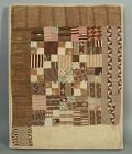 Four Patch Doll Quilt: Circa 1860