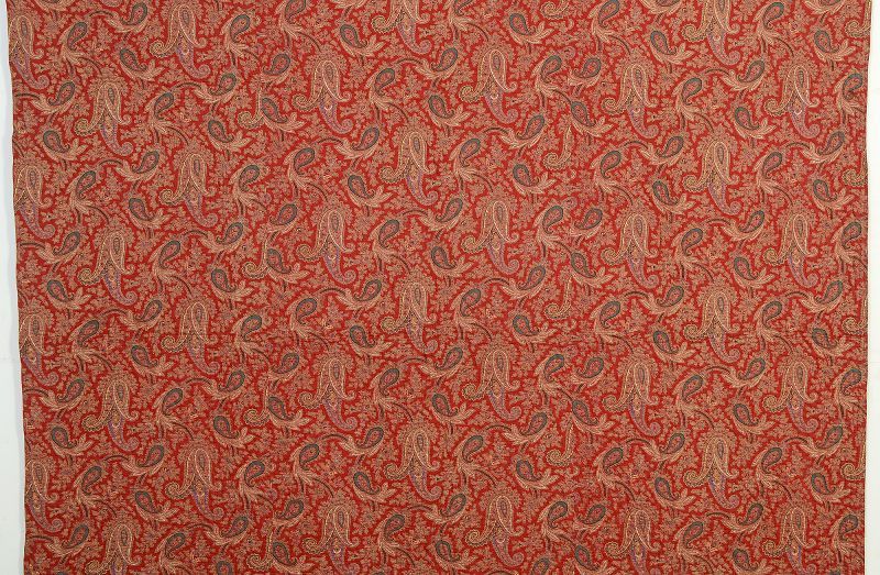 French Reversible Whole Cloth/ Paisley Quilt