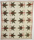 Leaves Quilt with Stuffed Berries: Circa 1890