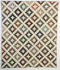 Chimney Sweep Quilt: Circa 1850; New York