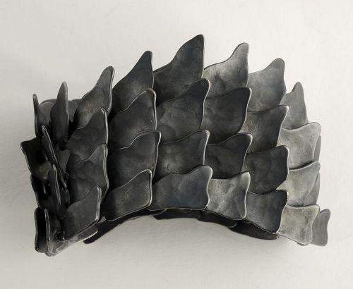 Eduardo Herrera Oxidized Silver Bracelet