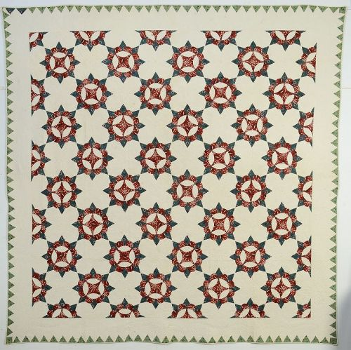Caesar's Crown Quilt: Circa 1850; Maryland