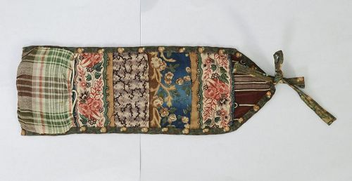 Sewing Roll Up Huswif; Connecticut; Circa 1850