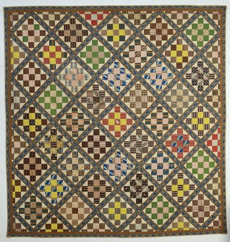 Album Patch Quilt: Circa 1850; Pennsylvania