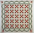 Turkey Tracks Quilt with Flags: Circa 1880; New York