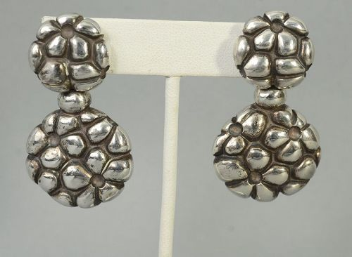 Linda Lee Johnson Sterling Silver Dangle Earrings