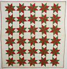LeMoyne Stars Quilt; Circa 1880