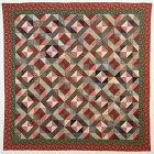 Light and Dark Diamonds Quilt: Circa 1880;Pennsylvania