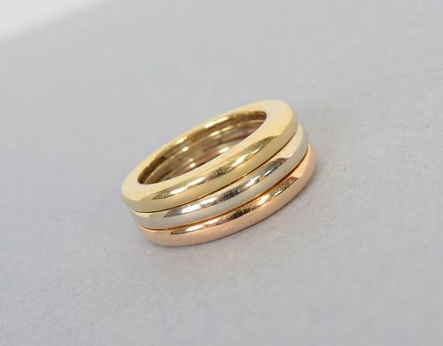 Cartier Trinity Stacking Gold Ring