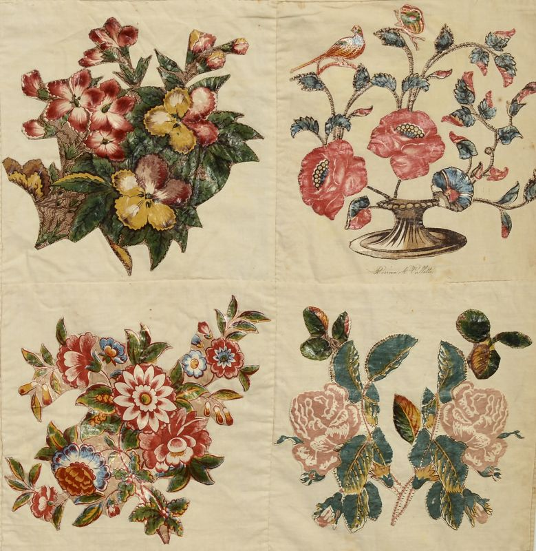 Broderie Perse Album Quilt: Dated 1843; New Jersey
