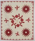 Early Applique Central Wreath Crib Quilt