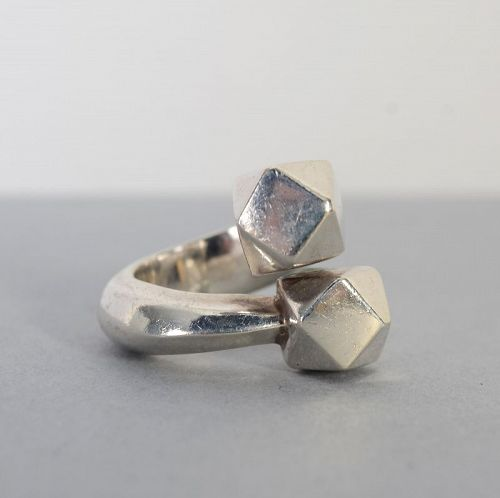 Patricia Von Musulin Sterling Silver Cubes Ring