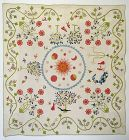 Adam and Evin the Garden of Eden Quilt: Circa 1830's; Vermont