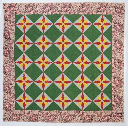 Blazing Star Quilt: Circa 1860; Pennsylvania