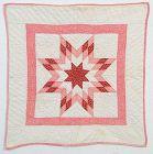 Lone Star Doll Quilt: Circa 1880; Pennsylvania