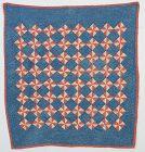 Pinwheels Crib Quilt: Circa 1880's; Pennsylvania