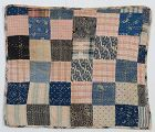Reversible One Patch Doll Quilt: Circa 1890; Pennsylvania