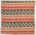 Patriotic Bunting Flag Quilt: Dated 1898