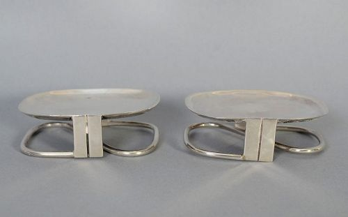 William Spratling Pair of Sterling Silver Mint Dishes