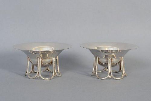 Pair of William Spratling Sterling Silver Master Salts