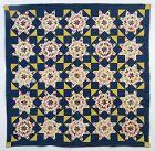 Mennonite Blazing Stars Quilt: Circa 1880; Pennsylvania