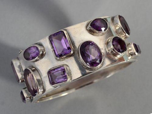 Carmen Beckmann Silver and Amethyst Bracelet