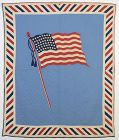 Patriotic Old Glory Flag Quilt: Circa 1918