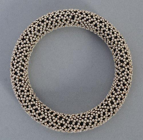 Tane Silver Dots Bangle Bracelet