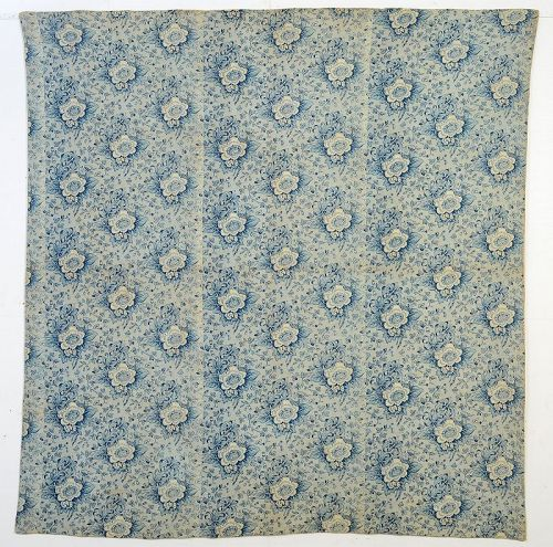 Chintz Wholecloth Reversible Quilt: Circa 1850; Pennsylvania