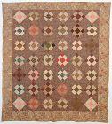 Puss in the Corner Quilt: Dated 1841; Pennsylvania